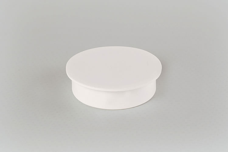 White Hinge Hole Cap