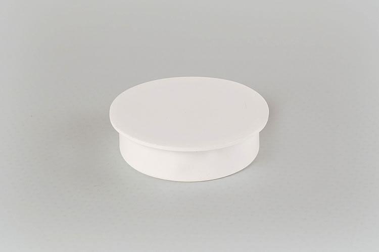 White Hinge Hole Cap